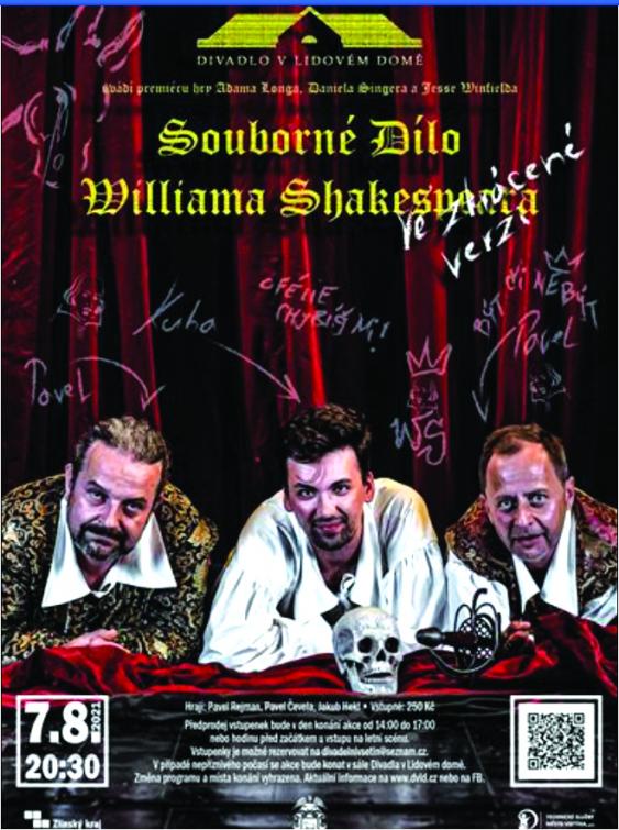 Divadlo v Lidovém domě ve Vsetíně představí souborné dílo Williama Shakespeara