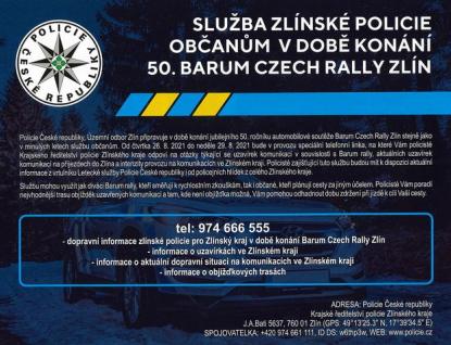 Na bezpečnost během Barumky budou každý den dohlížet desítky policistů