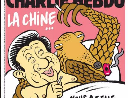 Si Ťin-pching po hrátkách s luskounem. Charlie Hebdo si opět nebere servítky