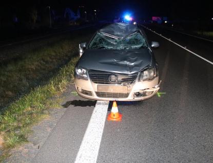 Tragická nehoda v Zubří. Cyklista nepřežil střet s autem