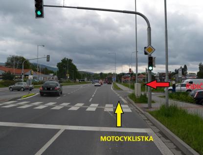 Dopravní policisté žádají svědky o informace ke střetu motorky a dodávky v Rožnově p. R.
