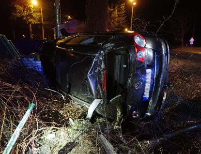 Nehoda osobního vozu na Vsetínsku