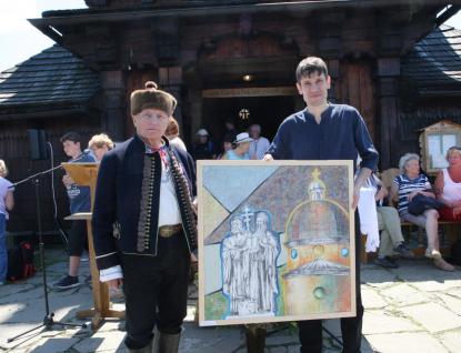 Žáci Výtvarné dílny věnovali obraz kvýročí 120 let kaple na Radhošti