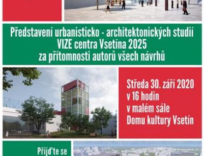 Přijďte se podívat na návrhy a diskutovat o tom, jak by mělo v budoucnu vypadat centrum Vsetína