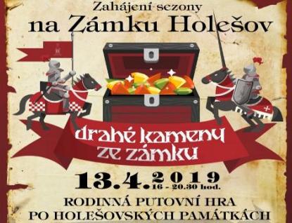 Zámek Holešov zahájí sezonu 13. dubna rodinnou putovní hrou Drahé kameny ze zámku