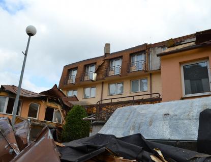 Čtvrteční bouře napáchala v Luhačovicích škody za desítky milionů korun