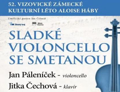 Další koncert Zámeckého léta představí Sladké violoncello se Smetanou