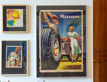 Na zlínském zámku je k vidění tvorba ilustrátora Foglarových knih a baťovských reklamních plakátů