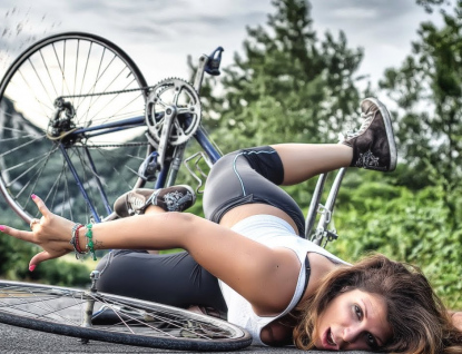 Srážky cyklistek nejsou ojedinělé. Bez zranění se to obvykle neobejde