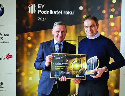 Držitelem titulu EY Podnikatel roku 2017 Zlínského kraje se stal Stanislav Martinec
