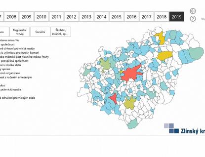 Rozklikávací rozpočet kraje i mapa dotací dostaly novou podobu