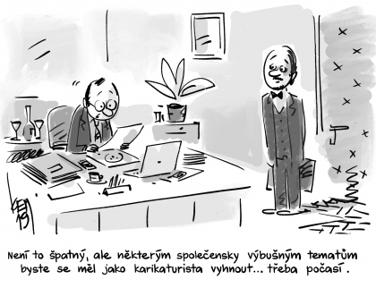 Na kreslený humor a satiru do Galerie Stará radnice ve Vsetíně