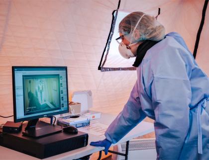 Uherskohradišťské nemocnice používá pro přesnější měření teploty pacientů termokameru
