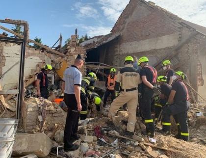 Výbuch plynu v Koryčanech na Kroměřížsku si vyžádal dva lidské životy