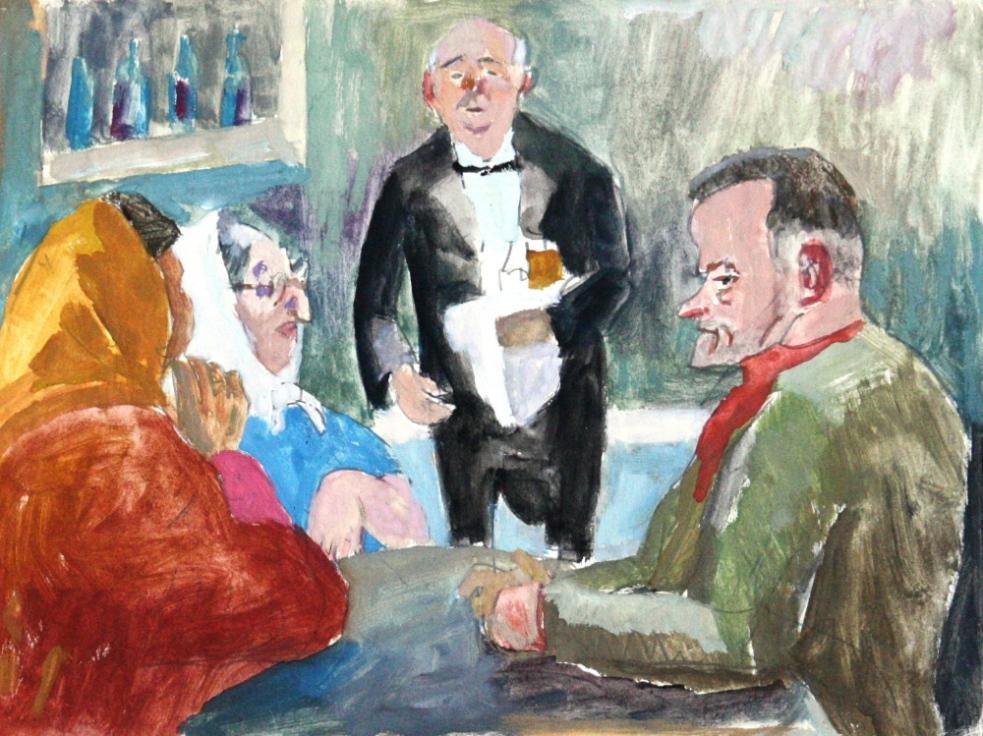 Výstava maleb a kreseb Josefa Hapky