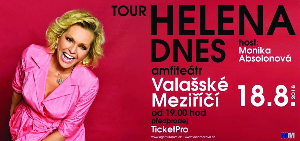 Helena Vondráčková vystoupí 18. srpna v amfiteátru ve Valašském Meziříčí! Koncert je součástí turné Helena DNES