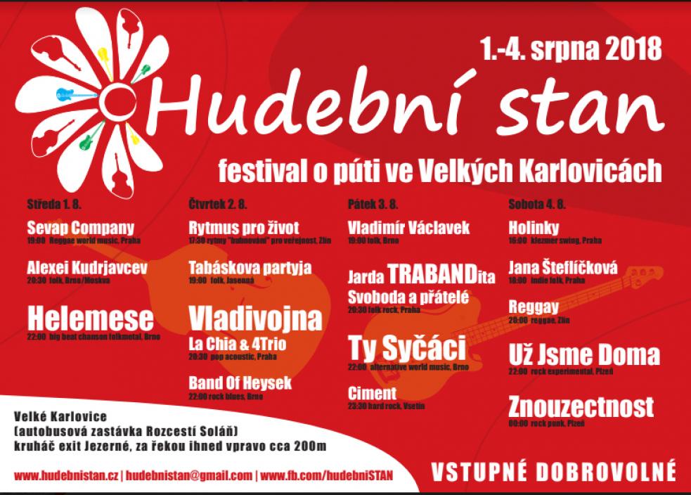 Festival HUDEBNÍ STAN o půti ve Velkých Karlovicích