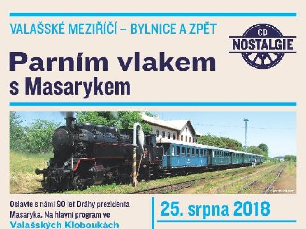Lidé se mohou projet historickým vlakem s prezidentem Masarykem