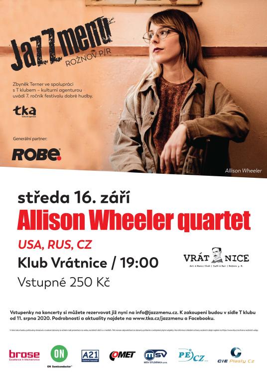 Allison Wheeler quartet 16. září ve Vrátnici