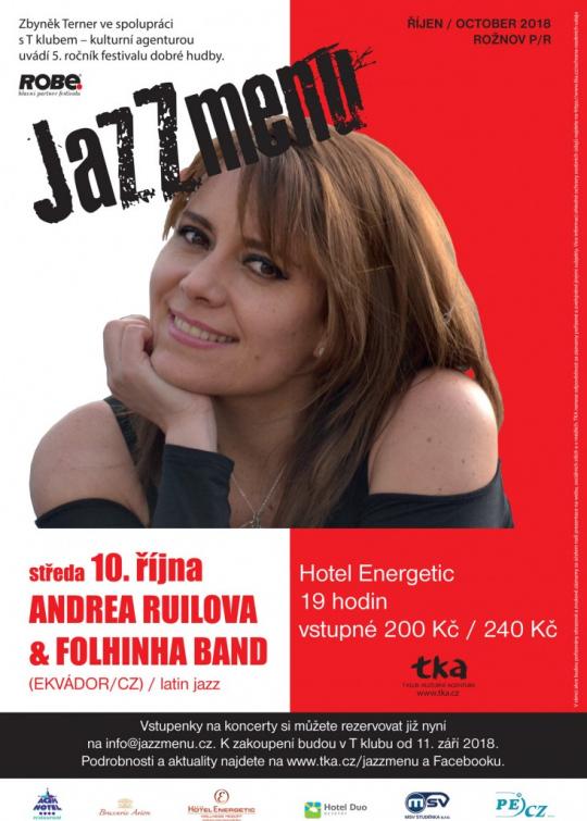 Už dnes v Rožnově: Andrea Ruilova &Folhinha Band (Ekvador/CZ)