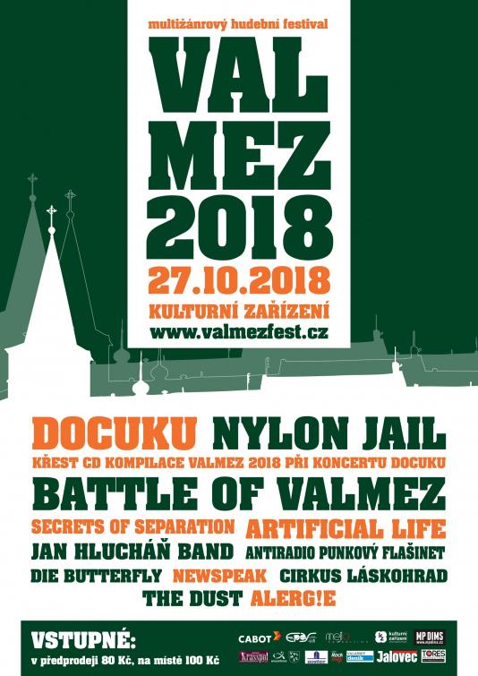 Hudební festival Valmez 2018 nabídne to nejlepší zmístní hudební scény