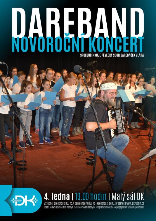 První novoroční koncert v Domě kultury bude patřit Darebandu