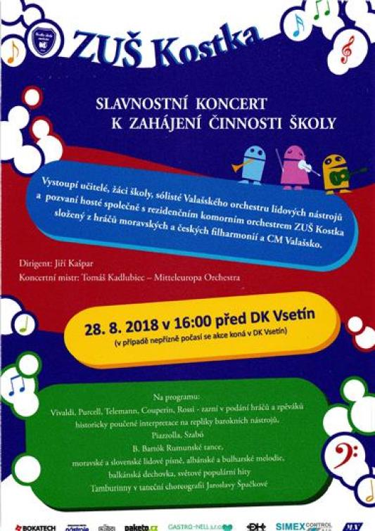 Základní umělecká škola Kostka pořádá slavnostní koncert