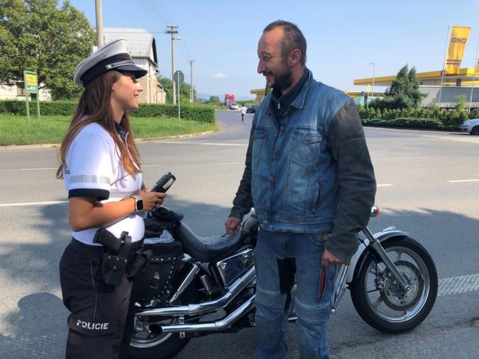 Dopravní policie si posvítila na motorkáře