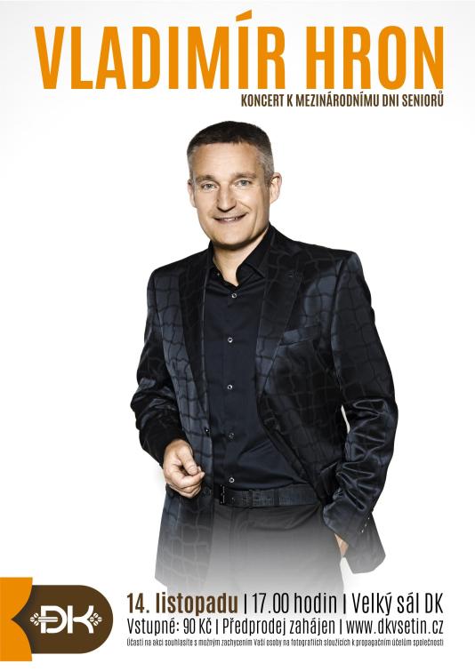 Mezinárodní den seniorů oslaví ve Vsetíně koncertem Vladimíra Hrona