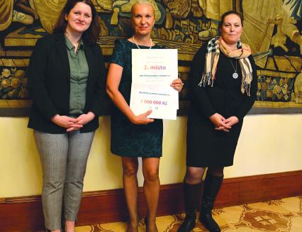 Město převzalo v Praze ocenění a symbolický šek na milion korun