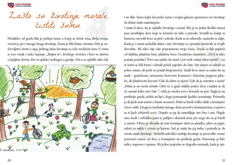 Pohádková kniha poradí srbským dětem stříděním odpadu