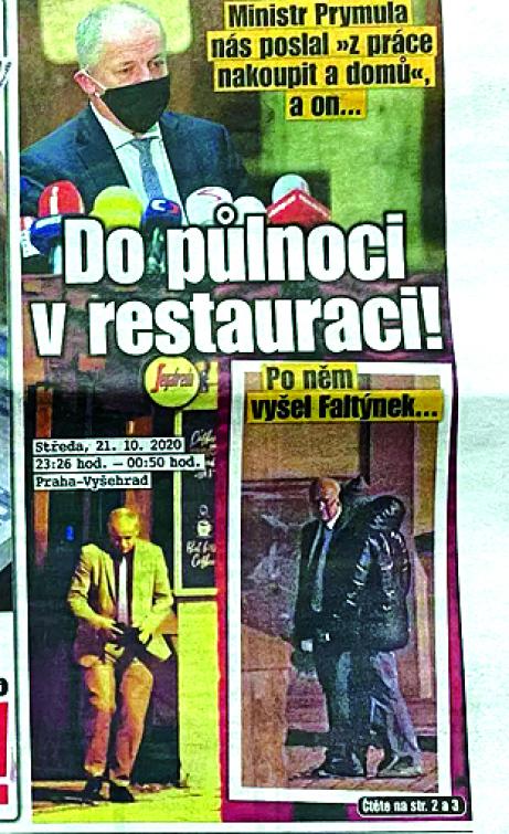 Tisk přistihl Prymulu s Faltýnkem v noci v zavřené restauraci!