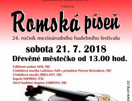 V Rožnově proběhne mezinárodní festival Romská píseň