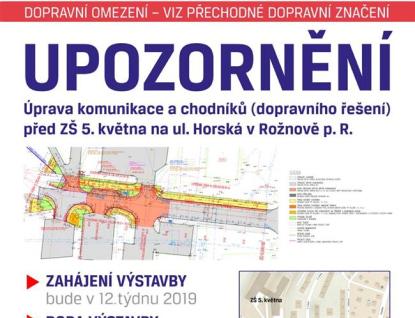 Začnou opravy komunikací na  rožnovské Horské ulici