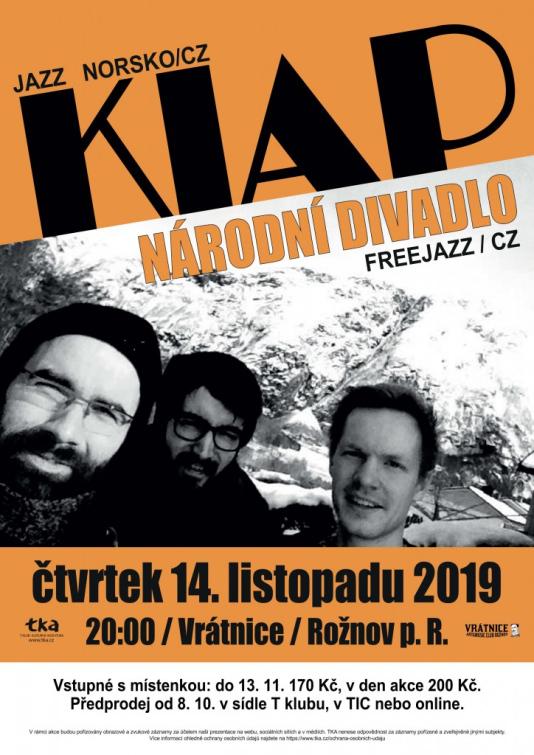 Norské trio Kiap vystoupí společně s Národním divadlem