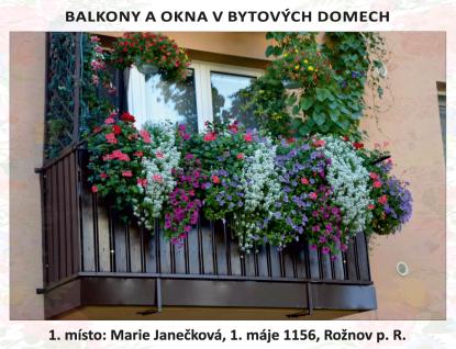 Rožnov vyhlásil vítěze 13. ročníku soutěže Kvetoucí město