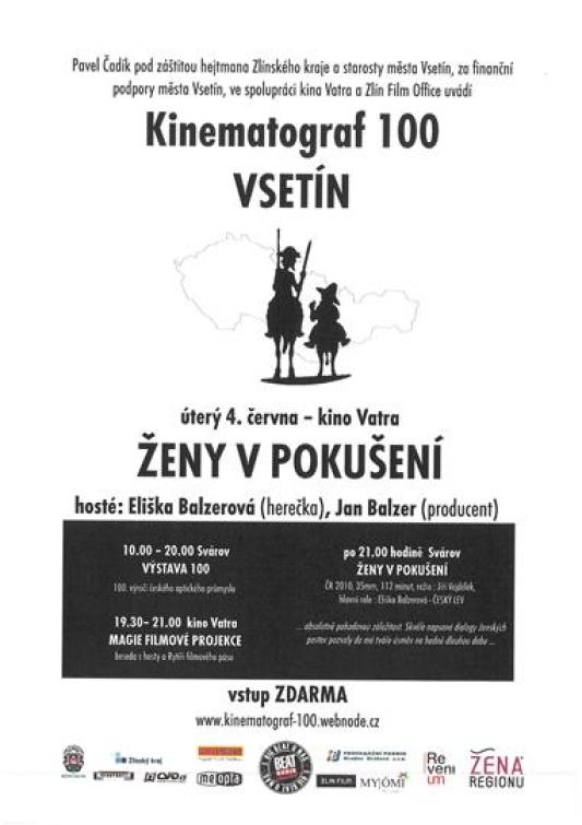 V rámci Kinematografu 100 přijede Eliška Balzerová