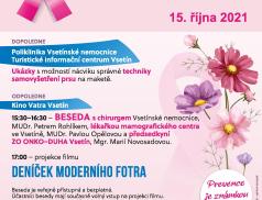 Poliklinika se zbarví do růžova, připraveny jsou přednášky i prevence nádorů prsu