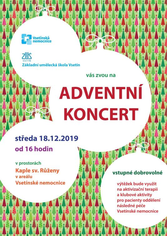Adventní koncert v kapli Vsetínské nemocnice