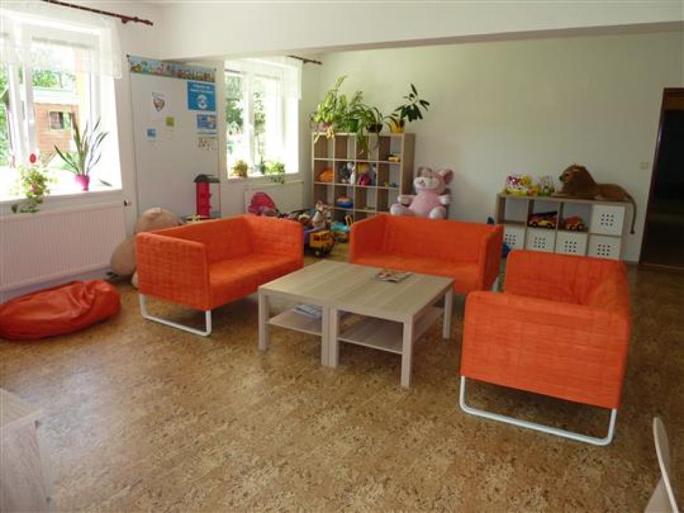Interiér Azylového domu ve Vsetíně je útulnější