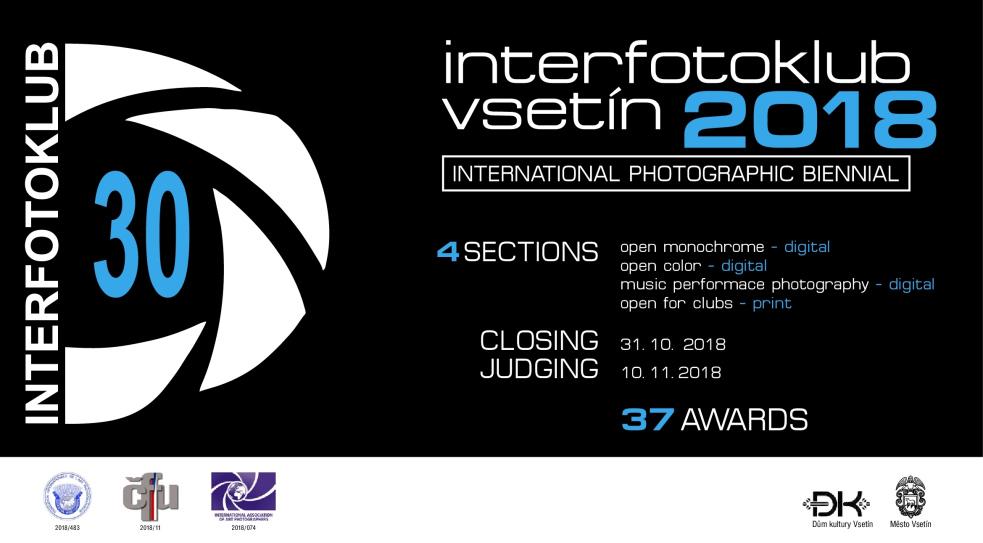 30. ročník mezinárodního fotografického salonu Interfotoklub Vsetín 2018 byl otevřen