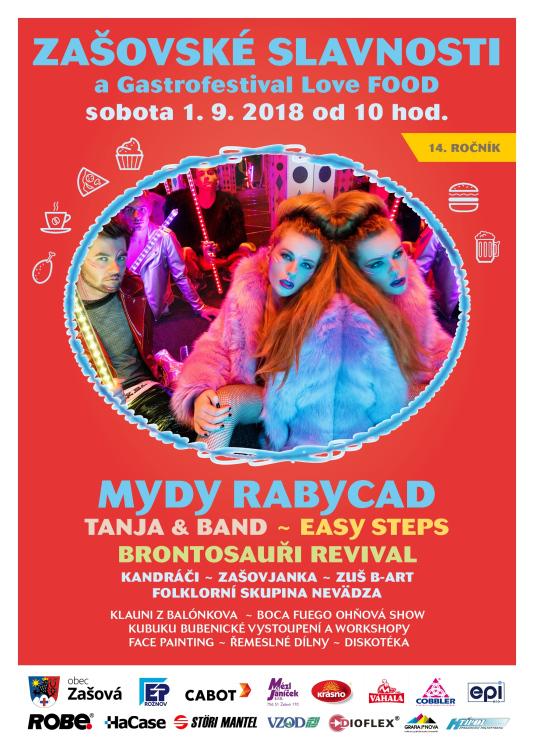 Mydy Rabycad a Love FOOD festival na Zašovských slavnostech