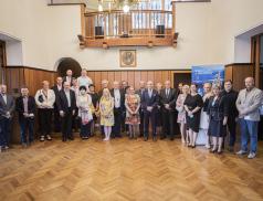U příležitosti zápisu Cyrilometodějské stezky mezi Kulturní stezky Rady Evropy se uskutečnila číše vína