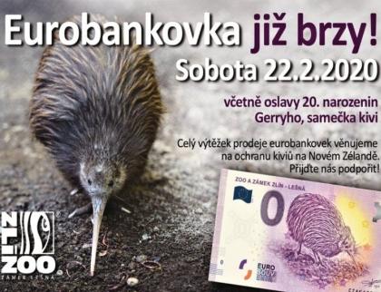 Zlínská zoo nabídne eurobankovky, na kterých bude vyobrazen kivi hnědý