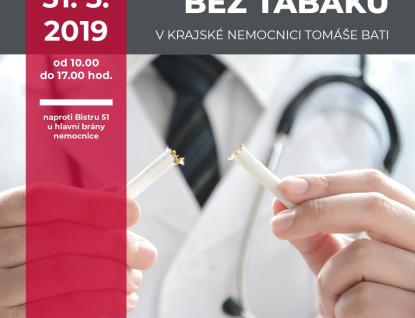 Chcete přestat kouřit? Zlínská nemocnice nabízí odbornou pomoc a opět zve na Světový den bez tabáku