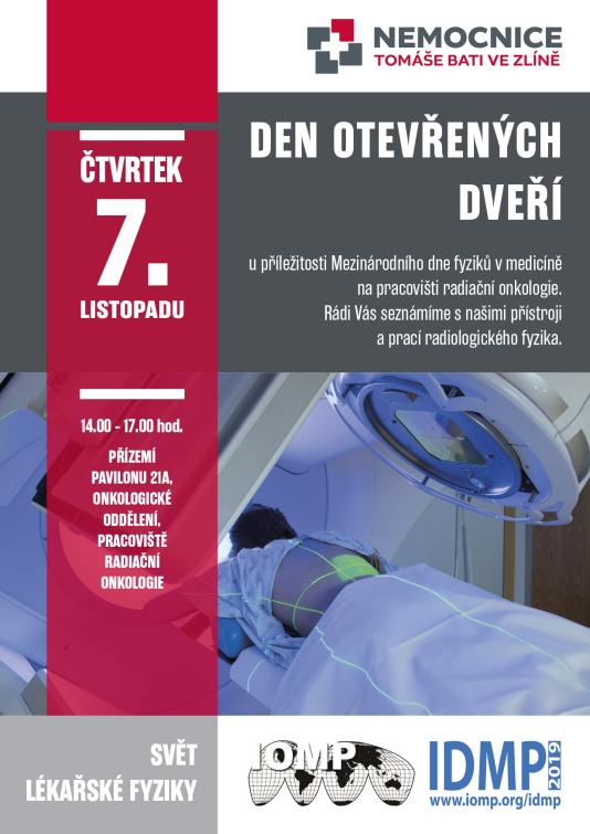 Radiační onkologie zlínské nemocnice zve zájemce o medicínskou fyziku na Den otevřených dveří
