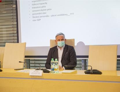 Krizový štáb Zlínského kraje jednal o vývoji epidemické situace