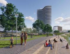 Nová městská čtvrť ve Zlíně v areálu KNTB: Byty, parky a propojení sřekou