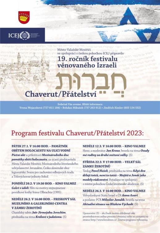 Festival Chaverut – Přátelství letos poprvé online