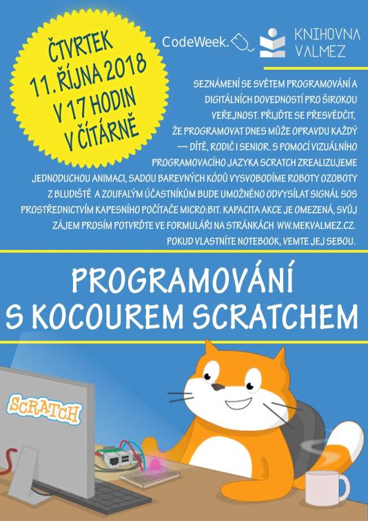 Kocour Scratch vmeziříčské knihovně